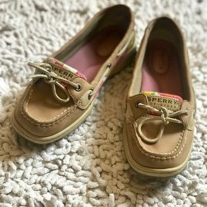 ⬇️SALE❗️ Sperry pink and tan top-siders! Size 7